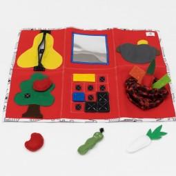 Sensoryczna mata aktywności - tablica manipulacyjna - czerwona