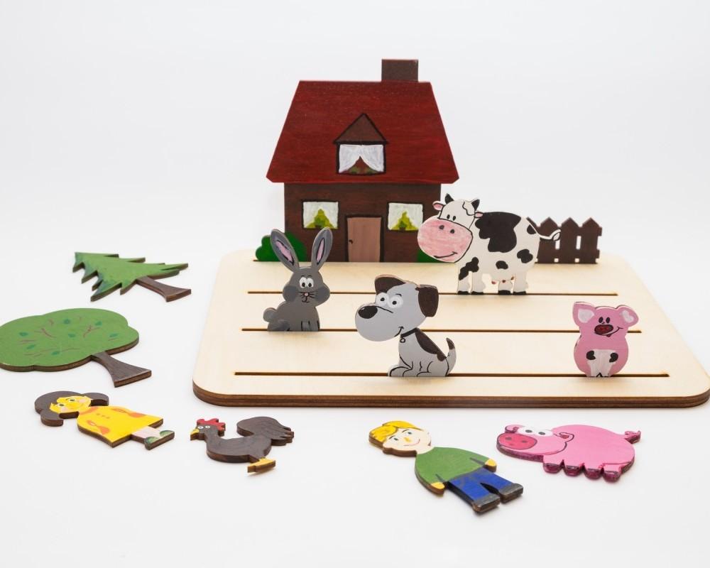 Farma - Drewniany Świat. Gra rozwijająca myślenie przestrzenne