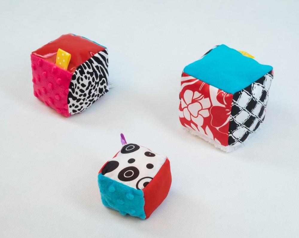 Kostki sensoryczne - 3 sztuki