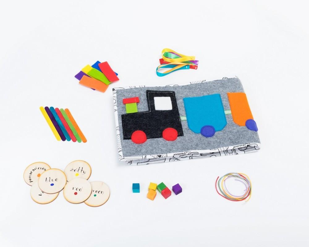 """Tęczowy Pociąg """"Simple&Fun"""". Nauka kolorów, kategoryzacji, sortowania"""