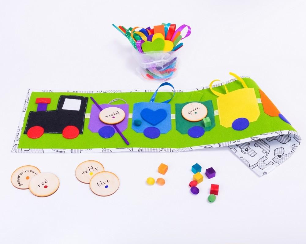 """Tęczowy Pociąg """"Simple&Fun"""" - Nauka kolorów, kategoryzacji, segregowania - ZIELONY"""