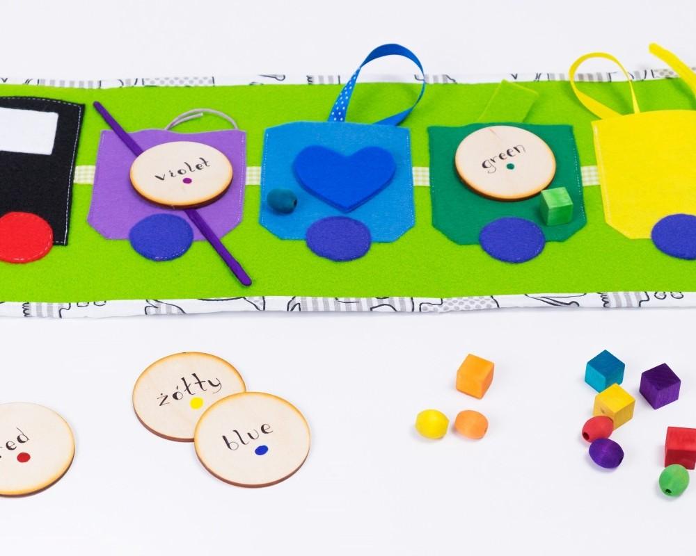 """Tęczowy Pociąg """"More&More"""" - Nauka kolorów, kategoryzacji, sortowania - ZIELONY"""