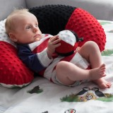 """Kontrastowy kocyk dla niemowląt Minky """"Śpiący Lundi"""" (Newborn)"""