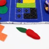 Sensoryczna mata aktywności - tablica manipulacyjna - niebieska