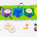 """Tęczowy Pociąg """"More&More"""". Nauka kolorów, kategoryzacji, sortowania"""